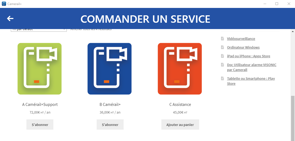 Services Camerail+
